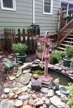 old hand pump fountain, gardening, outdoor living