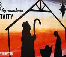kids paint by numbers nativity, crafts