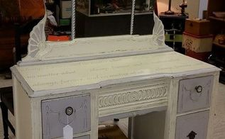 before after vintage vanity, chalk paint, painted furniture
