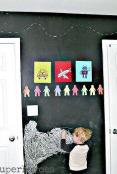 kids bedroom chalkboard wall, bedroom ideas, chalk paint, chalkboard paint, painting