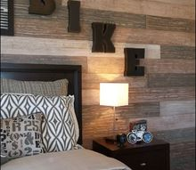 terri kemp interiors hhhunt, painting, wall decor, Each faux plank was painted separately to add variety to the wall