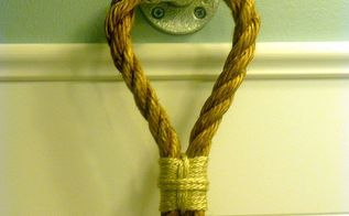 diy rope towel holder, crafts