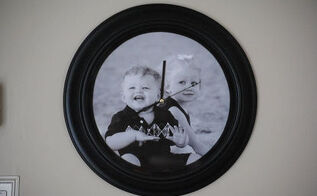thrift store find turned into a photo clock great diy gift idea, home decor, repurposing upcycling, This sweet photo clock is perfect as a gift or for your office or even a kids room