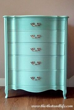 dresser makeover, painted furniture