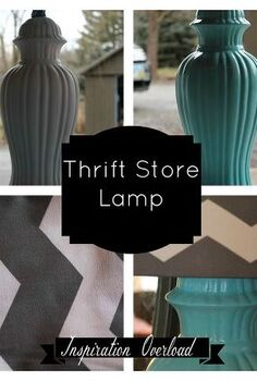 thrift store lamp, crafts