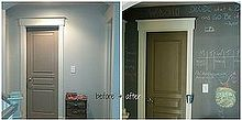 chalkboard hall, chalkboard paint, foyer, painting, Chalkboard Hall Liven up an ignored corner of your home
