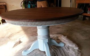 kitchen table refurbish, painted furniture