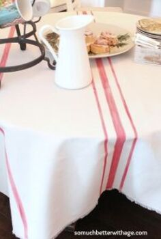 diy grain sack tablecloth, crafts, Make your own grain sack tablecloth
