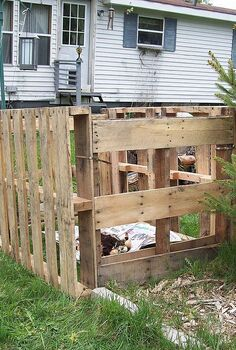 pallet compost bin, composting, diy, go green, pallet, repurposing upcycling, Pallets are held together with steel pull ties will make it easier to take apart if I decide to move it Also as pallets are hard wood it was easier than trying to nail or screw them together