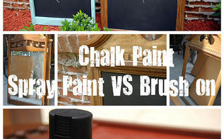 spray paint vs brush paint chalkboards, chalk paint, chalkboard paint, crafts, painting