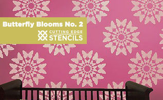 butterfly blooms stencils fly onto your walls, painting