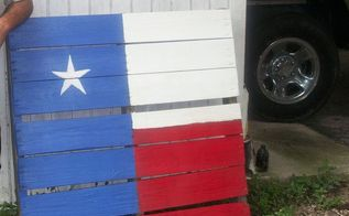 texas flag on pallet, painting, pallet, repurposing upcycling