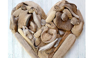 driftwood heart art a tutorial, crafts, seasonal holiday decor, valentines day ideas