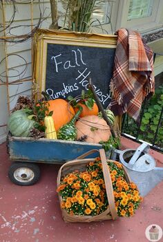 fall front porch decorating, christmas decorations, seasonal holiday d cor