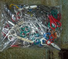 what can i make 65 pairs of little dull scissors, repurposing upcycling, 65 pair of little scissors