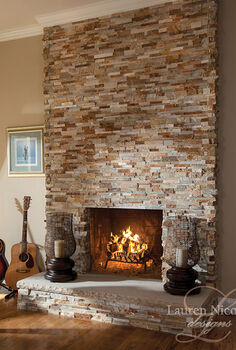 living piano room, fireplaces mantels, home decor, living room ideas, We converted the wood burning fireplace to gas for ease of use And we tiled over the older and traditional stone facade that was there when my clients moved in