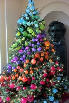 the white house christmas, christmas decorations, seasonal holiday decor, This is my favorite tree from the many that they had It would be very easy for us typical homeowners to do I love the way Abraham Lincoln is looking at it