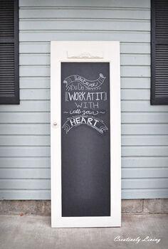 old door to chalkboard door, chalkboard paint, crafts, doors