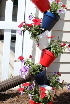how to make 5 tiered triangled planter boxes