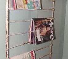 unique hanging magazine rack, repurposing upcycling