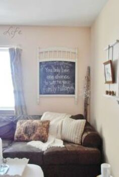 chalkboard from salvaged crib parts, chalkboard paint, crafts, repurposing upcycling, Chalkboard from salvaged crib panel