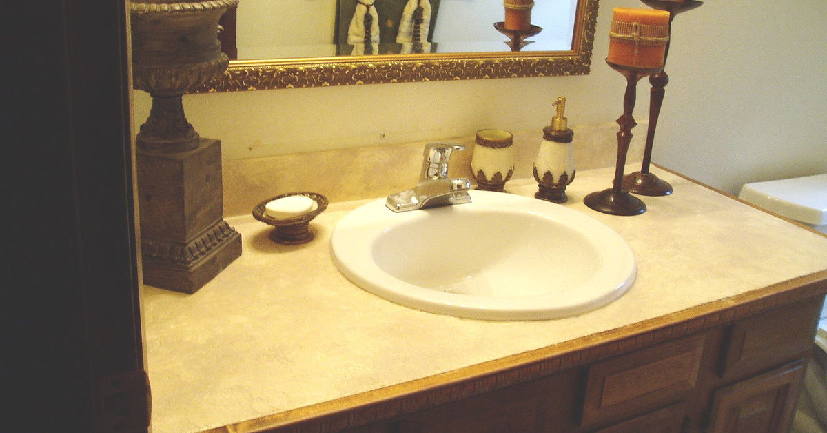 Bathroom Sink Turning Yellow how to turn your tile counter top in to faux sandstone without