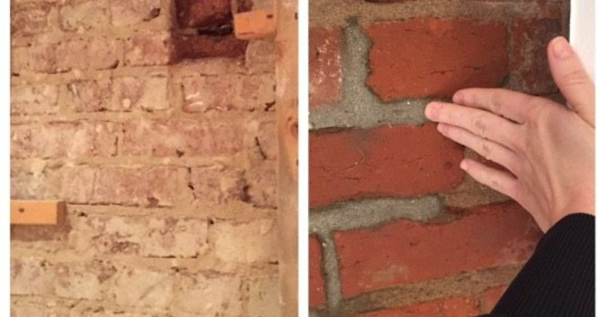 Exposing Amp Cleaning A 100 Year Old Brick Wall Hometalk