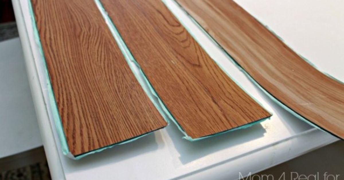 Plank Kitchen Backsplash Using Peel And Stick Flooring
