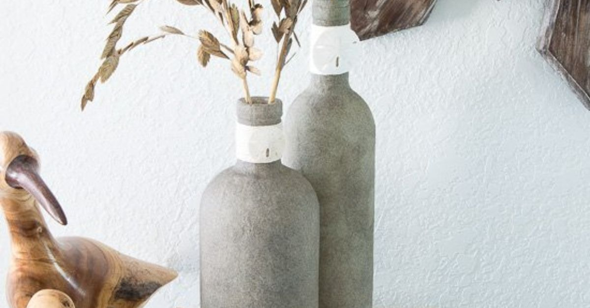 Upcycle Glass Bottles Into Beautiful Beachy Vases Hometalk