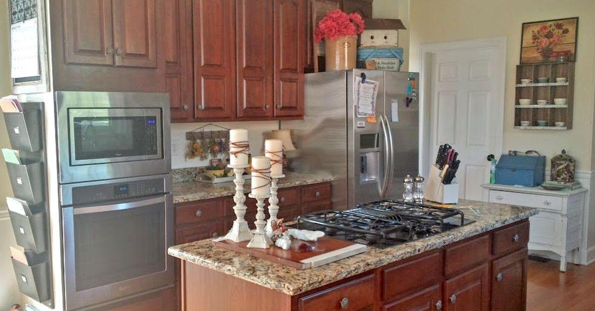 black kitchen cabinets makeover reveal