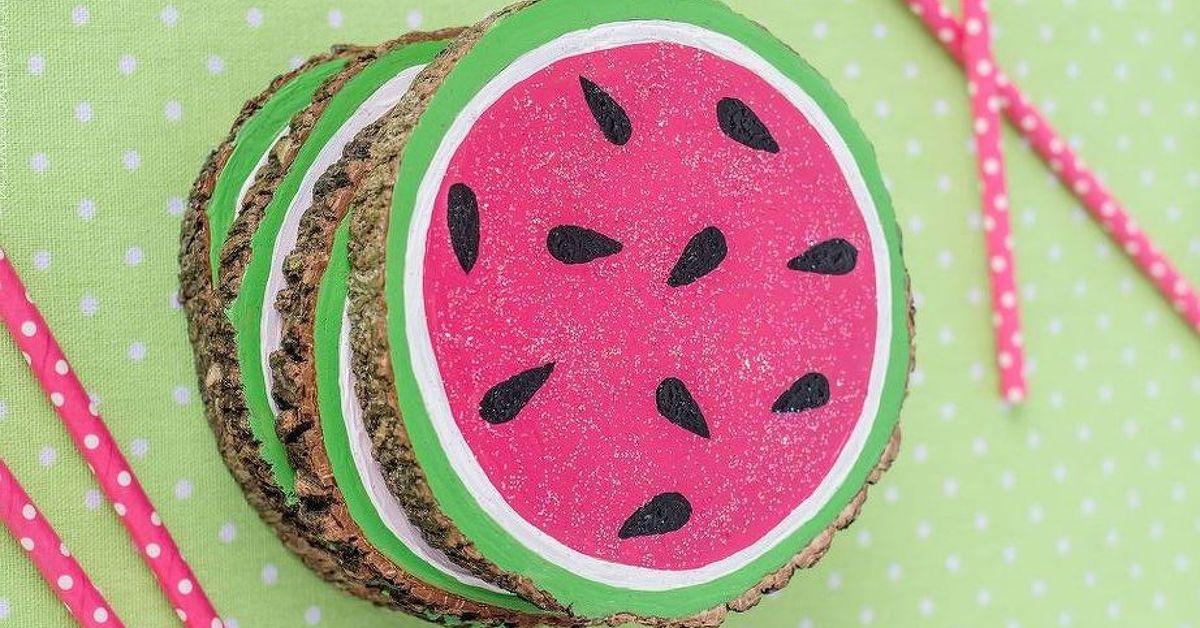Wooden Watermelon Coasters Hometalk