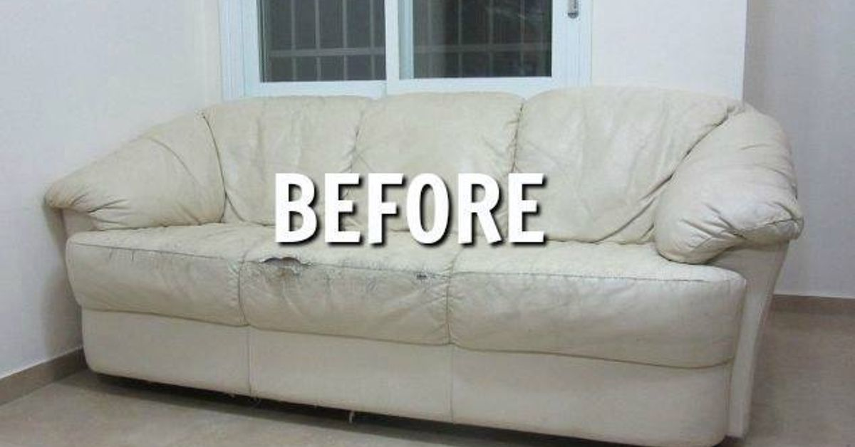 Reupholstered Torn Couch Hometalk