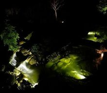 landscape and pond lighting, lighting, outdoor living, ponds water features