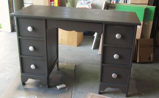 what a little can of spray paint can do, painted furniture