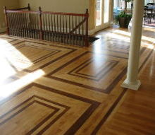 mixing different wood species to create a unique hardwood floor can be quite, flooring, hardwood floors, Maple mixed with American cherry hardwood flooring