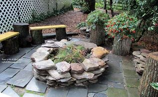 build your own fire pit, outdoor living, patio