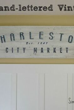 vintage inspired sign tutorial, crafts, Tutorial for a vintage inspired sign