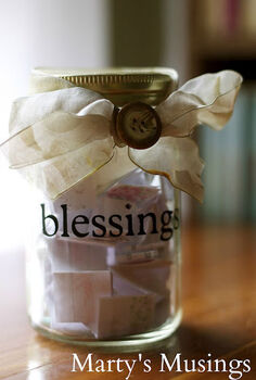 blessing jar record blessings throughout the year and open on thanksgiving as a, crafts, mason jars, seasonal holiday decor, thanksgiving decorations, I used my Cricut to cut out the vinyl letters