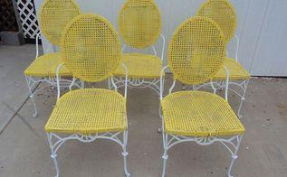 vintage metal chairs, painted furniture