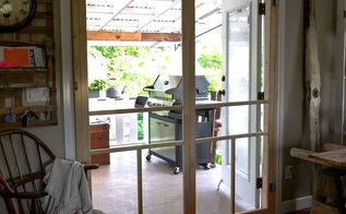how to screen french doors for only 35 each, doors, Two 35 premade screen doors really give my home a cabin front porch kinda feel I love how they function and I love the look