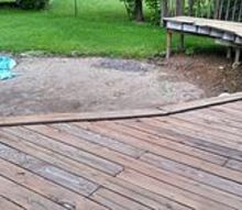 deck haflway around a swimming pool, decks, landscape, pool designs