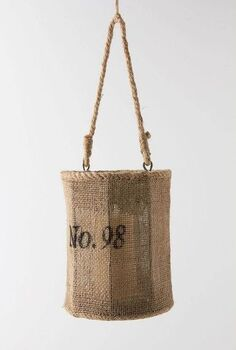 knock off anthropologie jute lantern, crafts, outdoor living, repurposing upcycling, The Original Anthropologie Jute Lantern
