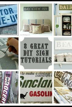 vintage inspired sign tutorial, crafts, See the link on the post for my favorite DIY vintage sign tutorials from other bloggers
