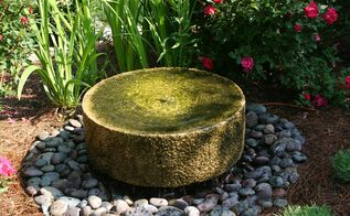 water in the garden add a water garden to your garden this spring, gardening, ponds water features, millstone fountain