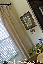 turning a sheet set into window treatments, home decor, living room ideas, repurposing upcycling, window treatments, windows