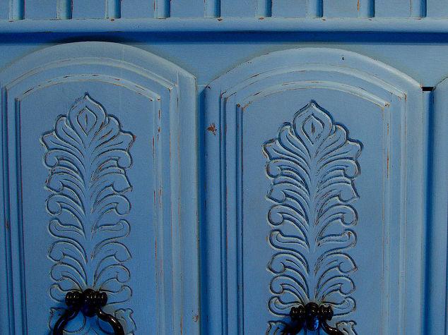blue chalkpainted nursery armoire hometalk. Black Bedroom Furniture Sets. Home Design Ideas