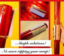 simple solutions use recycled paper tubes to wrangle your gift wrap, cleaning tips, repurposing upcycling