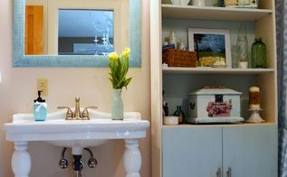 how to update your bathroom for less than 30, bathroom ideas, home decor, painting, storage ideas