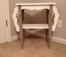 vintage magazine rack end table, chalk paint, painted furniture, After