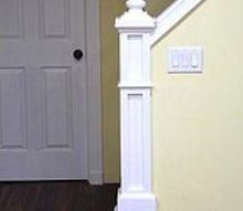 scrap wood newel post, home decor, woodworking projects, Learn how to build a newel post out of scrap wood